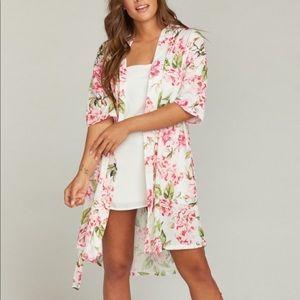 Show Me Your Mumu Brie Kimono Floral Robe OS